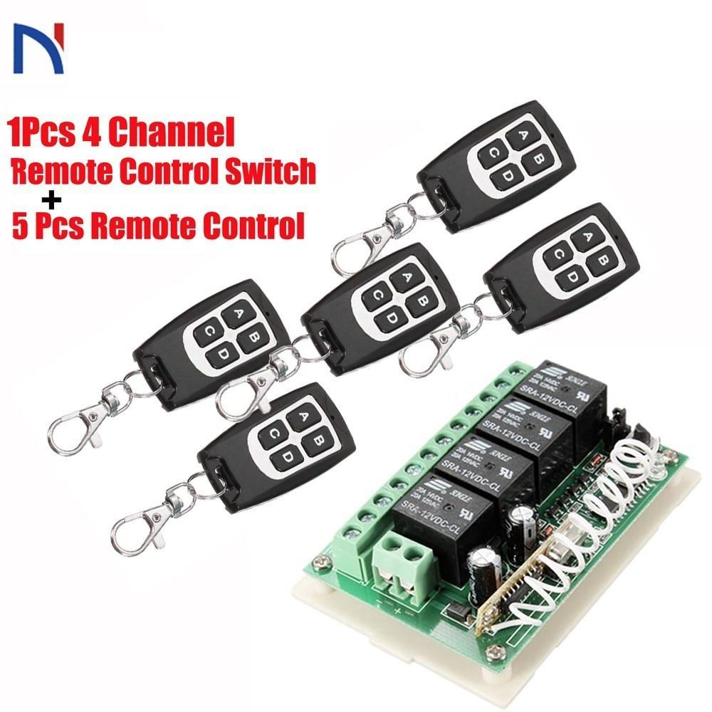 2CH 433MHz Remote Control Switch 5pcs Transmitter+Receiver High Quality New