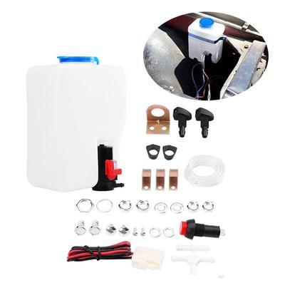 fc61b96ec66 12V Universal Windshield Windscreen Washer Pump Kit Cleaning Tools For Car  LQ
