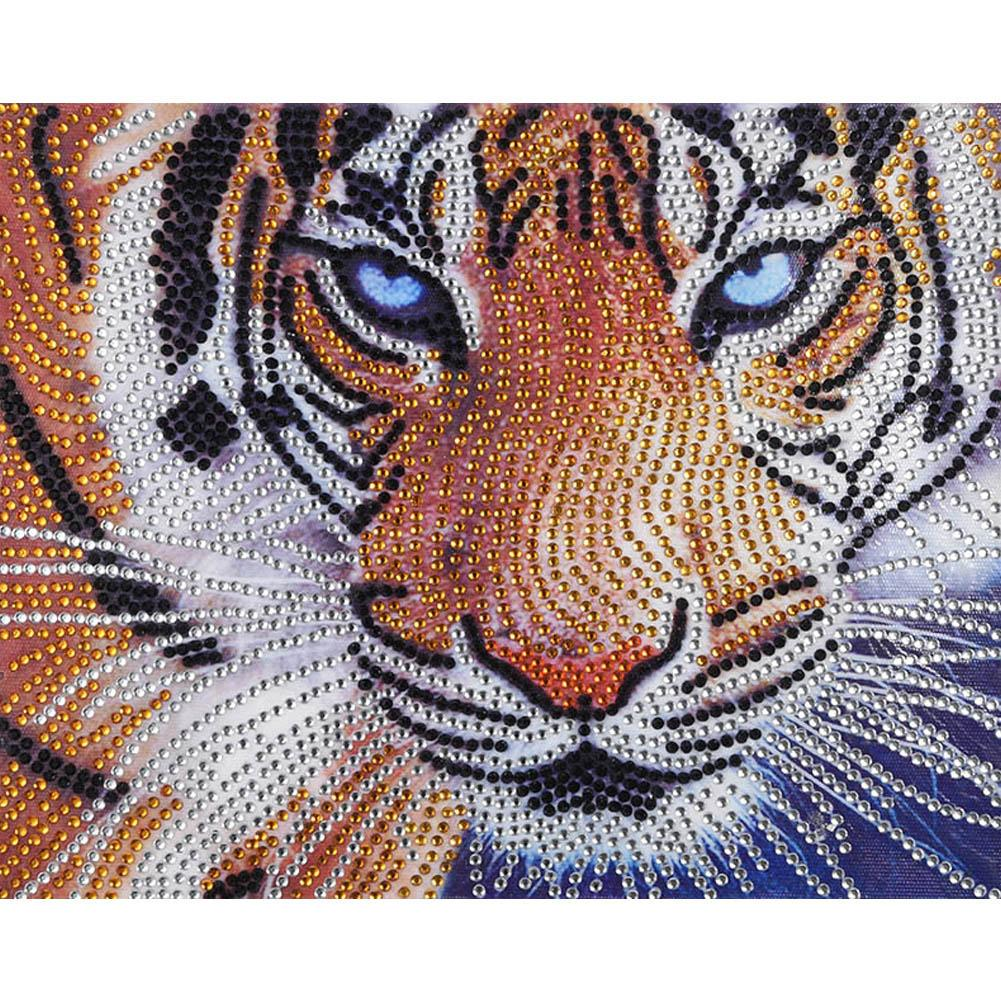 Embroidery Tigers Baby DIY Crystal Painting Mosaic Home Sewing 5D Decor Craft N7