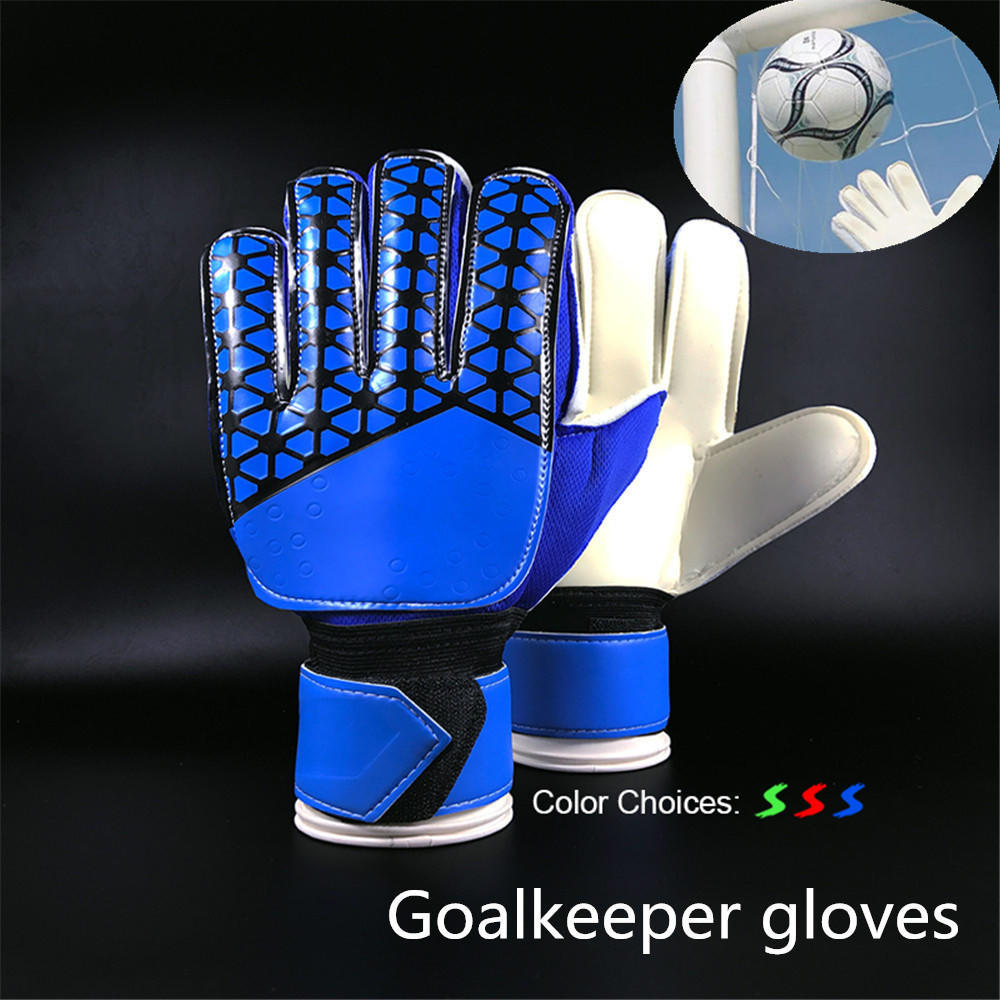 Goalkeeper Goalie Keeper Gloves Roll Finger Soccer Goalie Gloves Football Gift