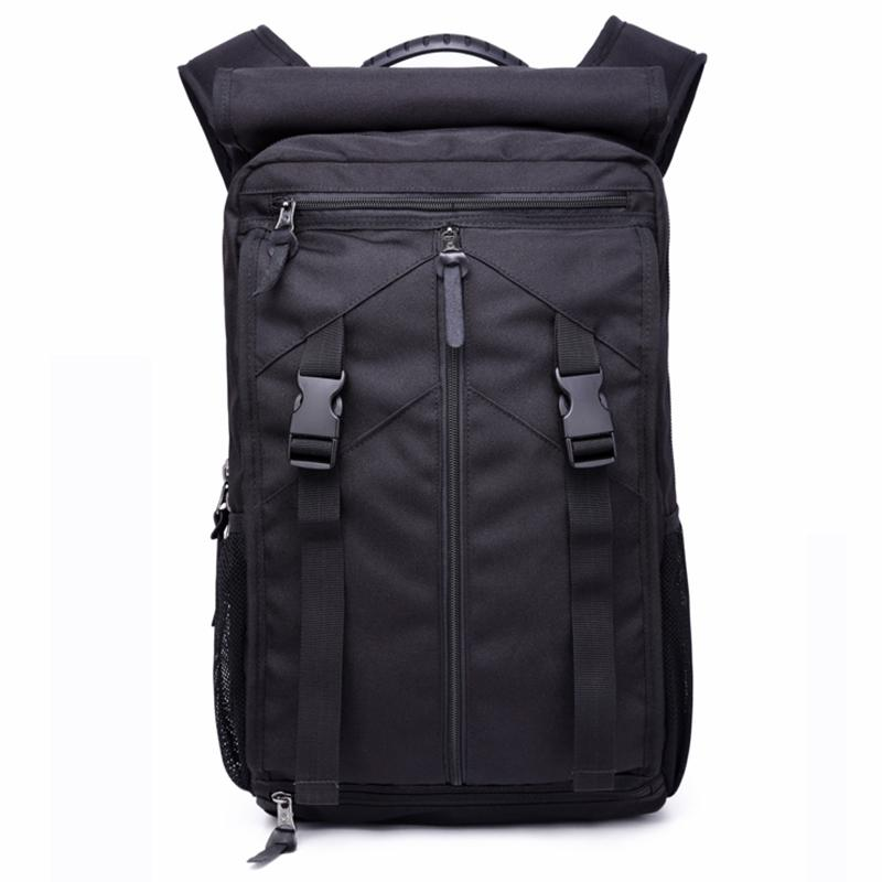 SY Outdoor Creative Fashion Multifunctional Oxford Cloth Backpack Men Outdoor Sports Travel Bag Large Capacity Waterproof Mountaineering Bag for Men Black