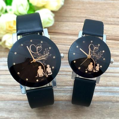 Student Couple Stylish Spire Glass Belt Quartz Watch For Lover Women Watches Bracelet Watch