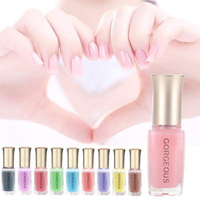 Shining Transparent Jelly Gel Nailpolish Long Lasting Nudes Nail Art Tools 12 Colors