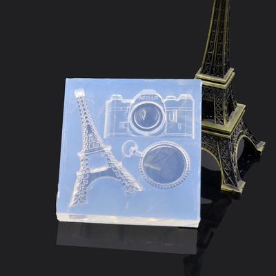 1 Pcs Eiffel Tower Cabochon Silicon Mold Mould Epoxy Resin Jewelry