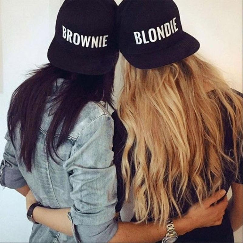 16ffceb28 Baseball caps blondie/brownie letter hip hop hat embroidered couple