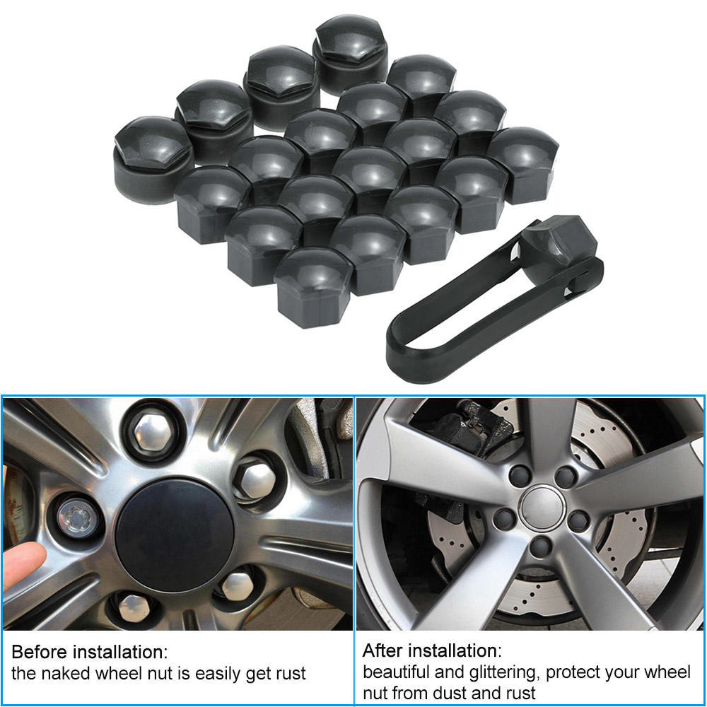 17/mm 20/tapones de protecci/ón hexagonal para tuercas de rueda universal Diyi cromo
