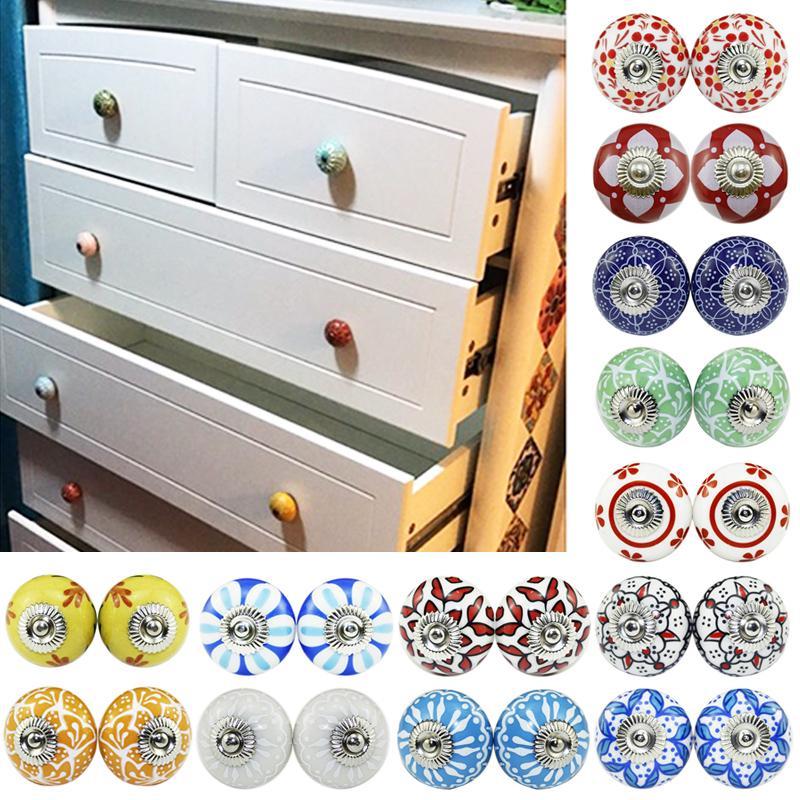 Creative Pumpkins Ceramic Cabinets Door Handle Cupboard Drawer Dresser Pull Knob