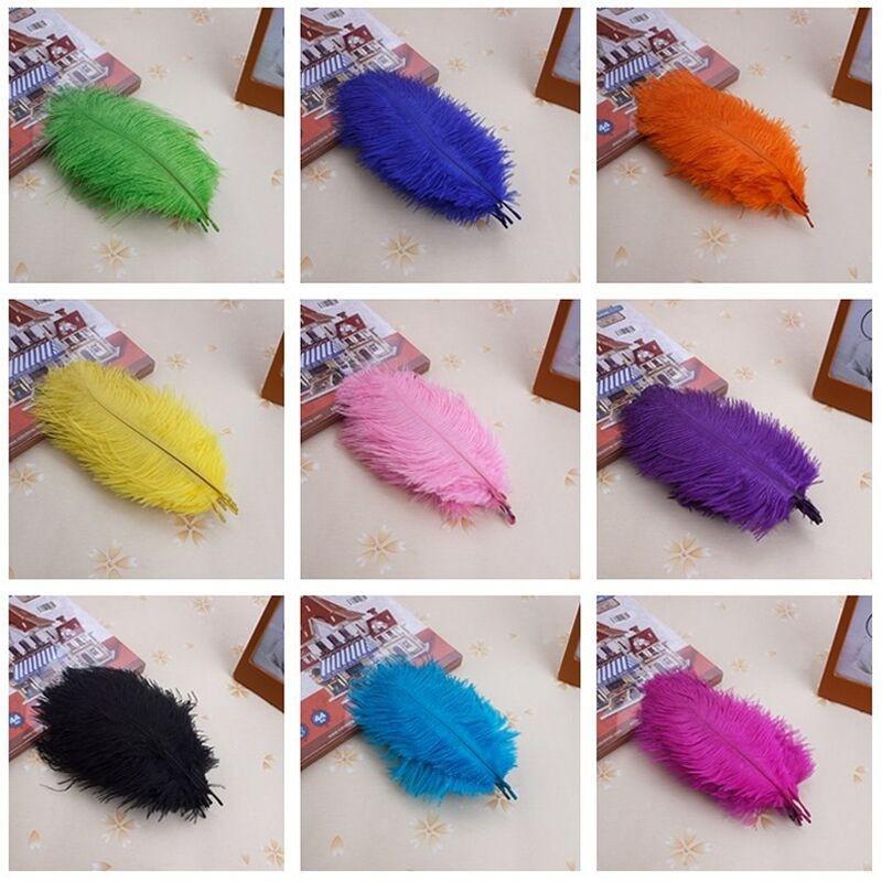10 Buclot Struţ De 20 25 Cm De Pene Colorate Pene Decor Nunta