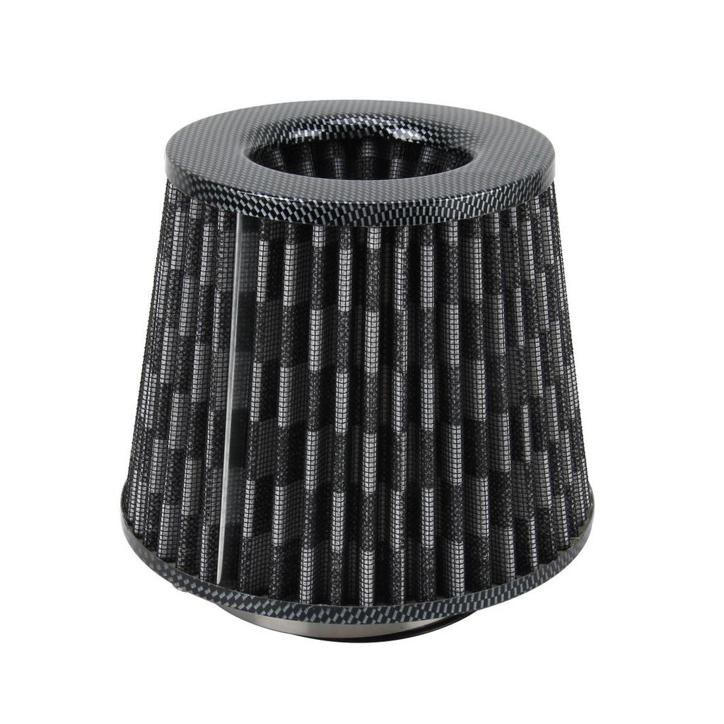 Kit mit 3 Edelstahl Klemme Universal 7,6 cm Carbon Fiber Luftfilter Kalte Luft Rohr Lufteinlass Induktion Lufteinlass KFZ-Lufteinlass Filter Kit