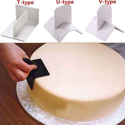 1PCS Smoother Paddle Finisher Fondant Polisher 90° Cake Decorating DIY Tool Mold