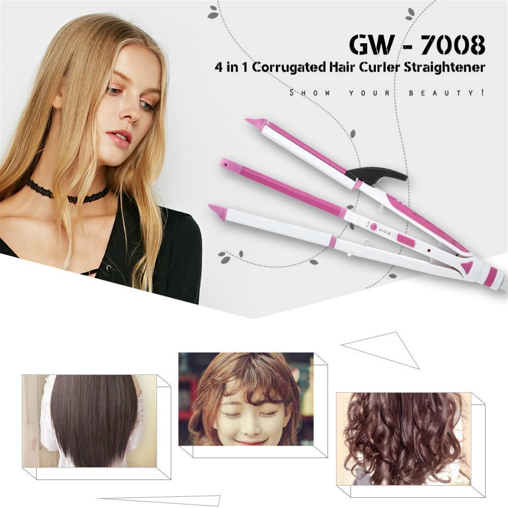 Guowei Gw 7008 4 în 1 Păr Ondulat Bigudiu Aparat De îndreptat