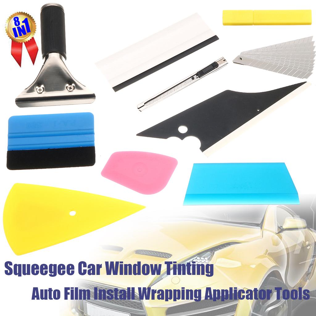 5pc Professional Car Window Tint Squeegee Film Install Wrapping Applicator Tools