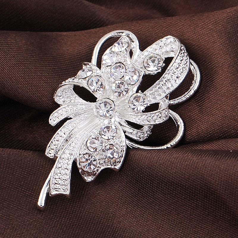 Шипованные Crystal шик элегантный горный хрусталь жемчужина танцы Лебедь брошь PIN свадебные ювелирные изделия фото