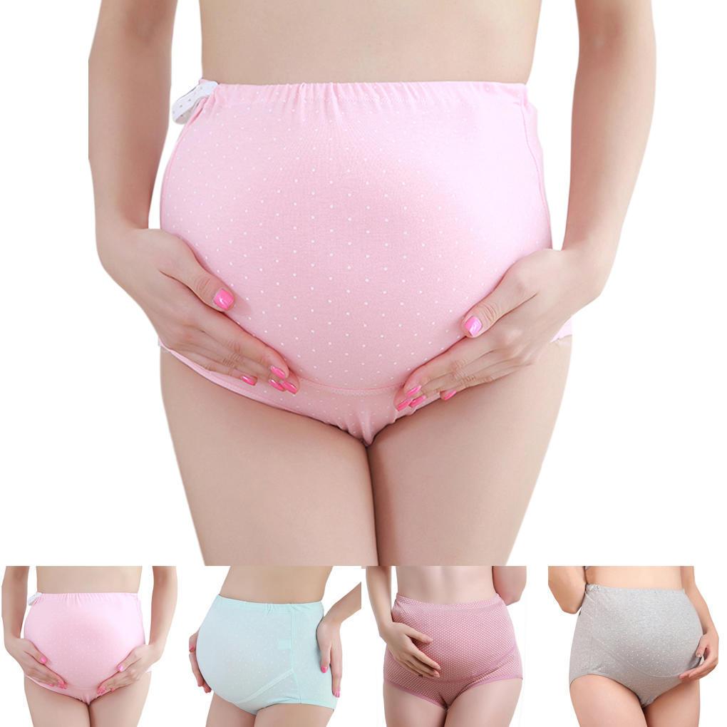 6e0622446 Beifs de cintura alta de algodón 3pcs ropa interior maternidad para ...