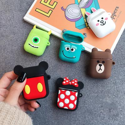 Cartoon Wireless Bluetooth Earphone Case for Apple Airpods PRO Silicone Charging Headphones Cases for Airpods 3 Protective Cover
