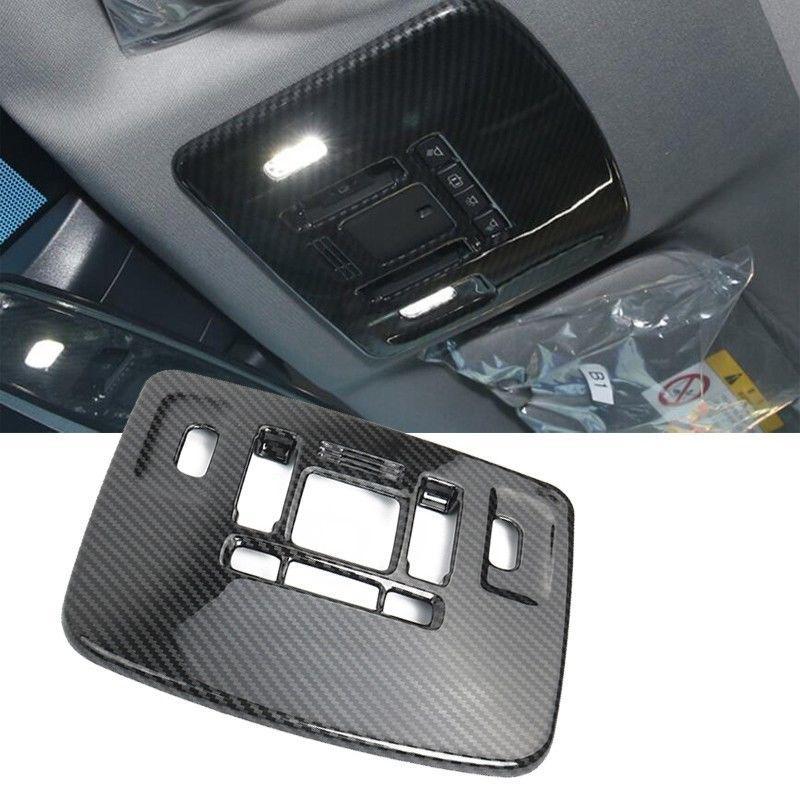 Carbon Fiber Style Front Reading Light Lamp Cover Trim 1PC For Toyota Camry 2018