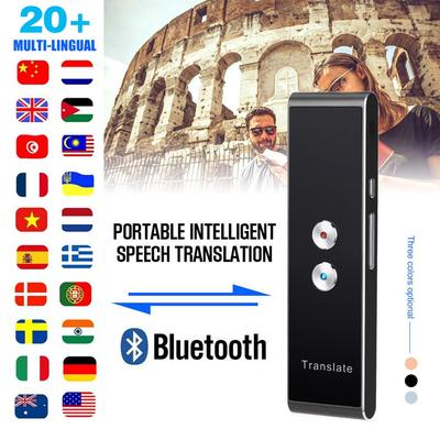Smart Voice Translator Portable Two-Way Real Time 40 Languages Translation Machine Wireless Bluetooth Remote Connection White