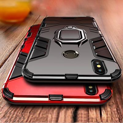 Shockproof Armor Magnetic Ring Holder PC + TPU Stand Case Cover for iPhone Samsung Huawei Xiaomi OPPO Vivo
