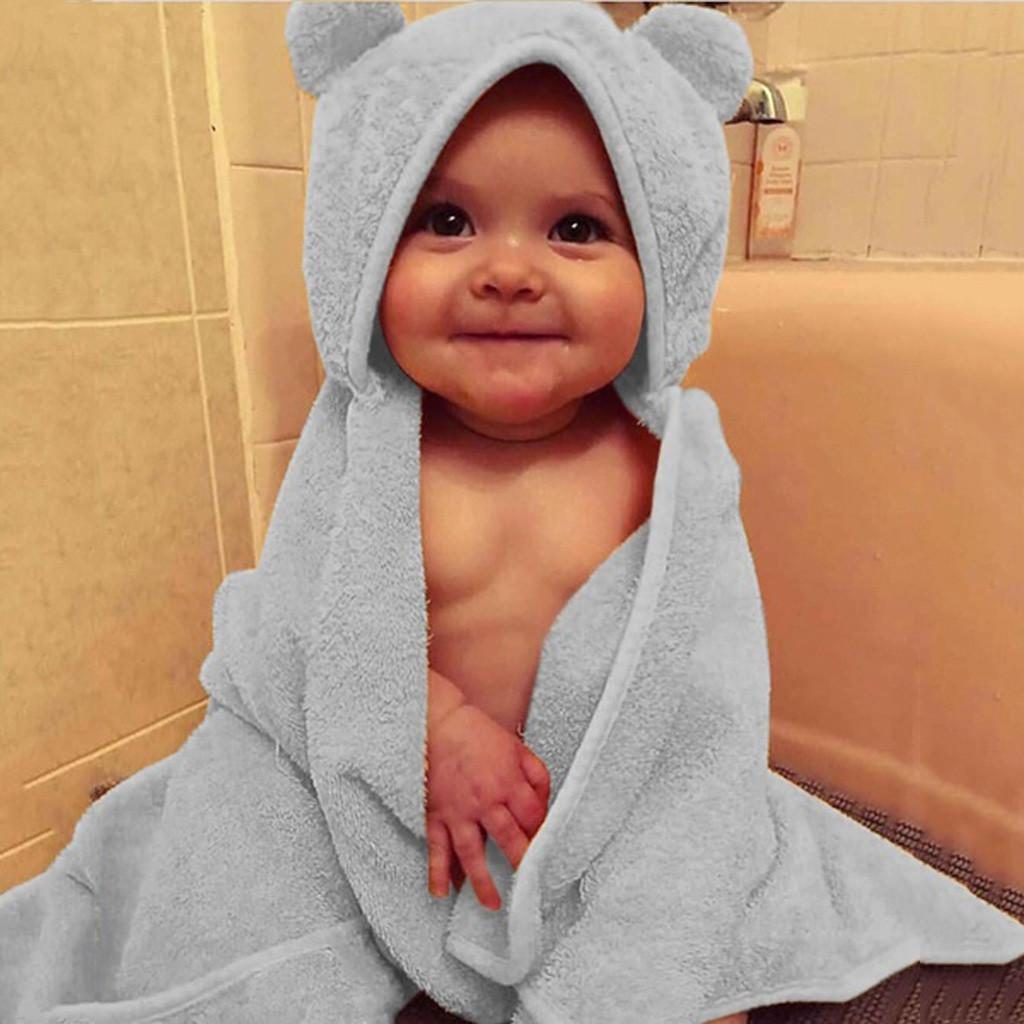 Infant Baby Boys Girls Solid Hooded Flannel Bathrobes Towel Swaddle Buy At A Low Prices On Joom E Commerce Platform