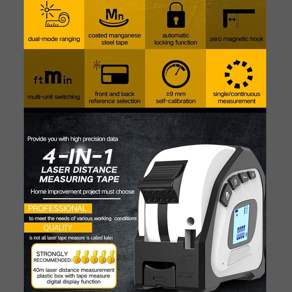 Pinhaijing 40m Portable Mini Digital Rangefinder Handheld Distance Meter Range Finder Measuring Measure Professional