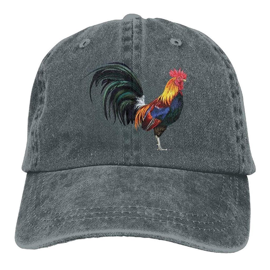 Unisex el gallo realista Funny Logo moda verano algodón béisbol ... db737c8c684