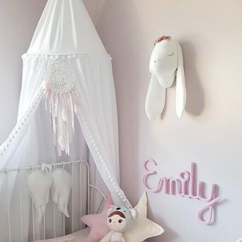 Crib Netting Steel Baby Bed Eco-friendly Canopy Bedcover Round Mosquito Net Curtain Bedd Keeps Out Mosquitoes