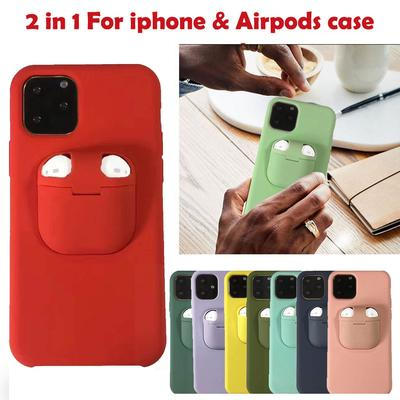 Airpods Headphone Storage Box Phone Cases For IPhone 11 Pro Max Shockproof Hard Shell For IPhone SE 2020 XR XS Max X 8 7 6S Plus Heavy Duty Cell Phone