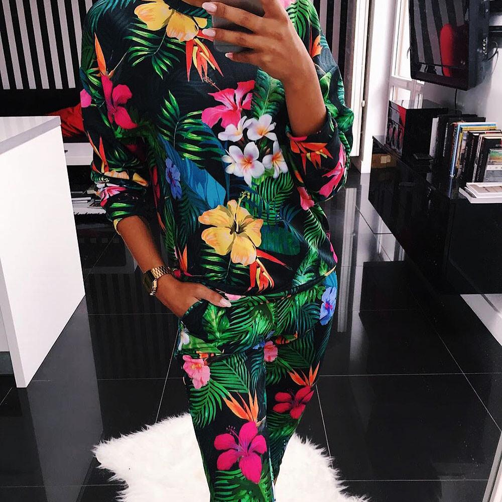 UK 2PCS Womens Tracksuits Set Lounge Wear Ladies Casual Hoodies Top Pants Suits