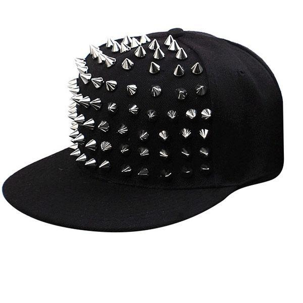 3d6d7d0f59e Hat Snapback Cap Men Women Spike Studs Rivet Cap Hip Hop Baseball Punk-buy  at a low prices on Joom e-commerce platform
