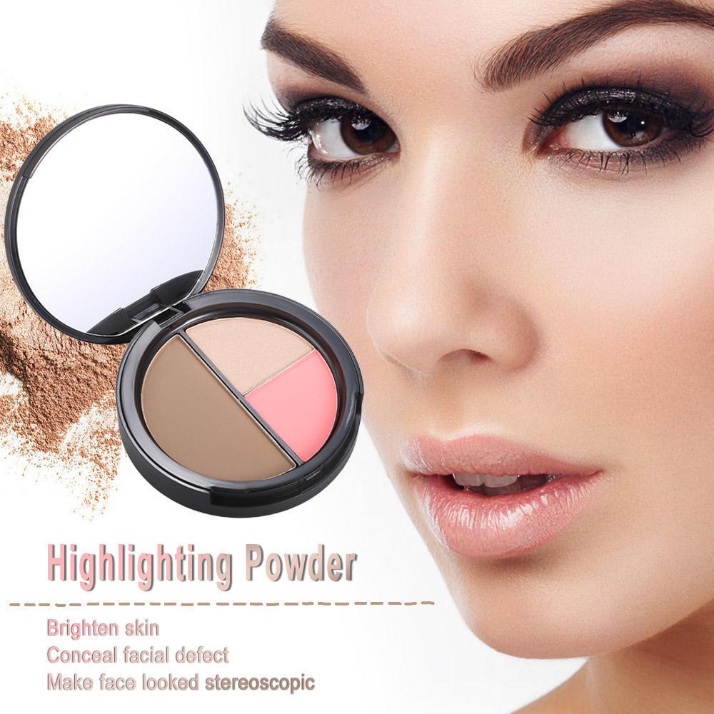 Красота и здоровье восстановление мощности порошок блок высокий светлый изысканный трехмерный макияж