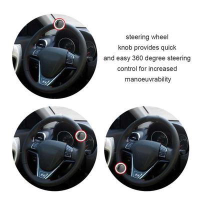 VORCOOL Steering Wheel Spinner Knob Steering Wheel Spinner Auxiliary Ball Accessory for Car Vehicle Black