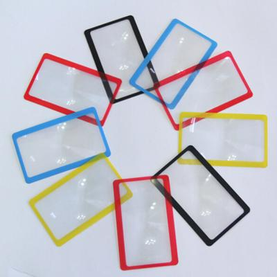 3X Reading Credit Card Pocket Magnifier Magnifying Tool Wallet Clip Loupe Lens