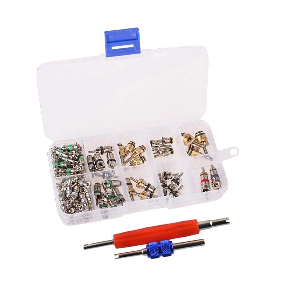 YouN 242pcs//set Car A//C Air Conditioning R134a Valve Cores Remover Tool Kit