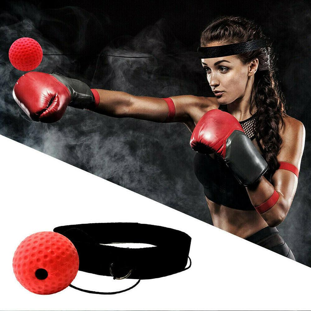 Fight Ball Reflex Boxing REACT Training Boxer Speed Punch Head Cap String BallPN