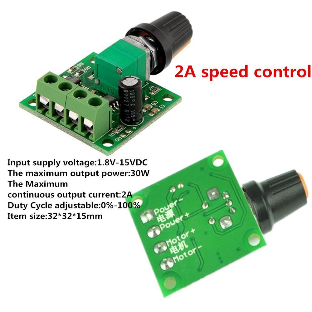 2A Motor Speed Switch Controller PWM 1803BK+self-recovery Fuse DC 1.8V 3V 5V 6V