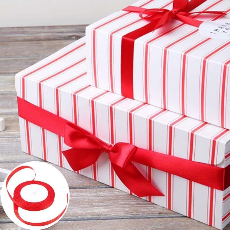 Wrapping Satin Ribbon Party Christmas snowflake Printed Birthday Gift Box 1cm