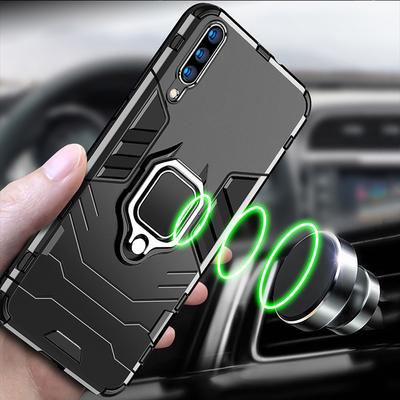 For Xiaomi 11 Redmi Note 10 Samsung Galaxy A12 iPhone 13 Huawei P50 Luxury Magnetic Kickstand Hybrid Armor Case Cover