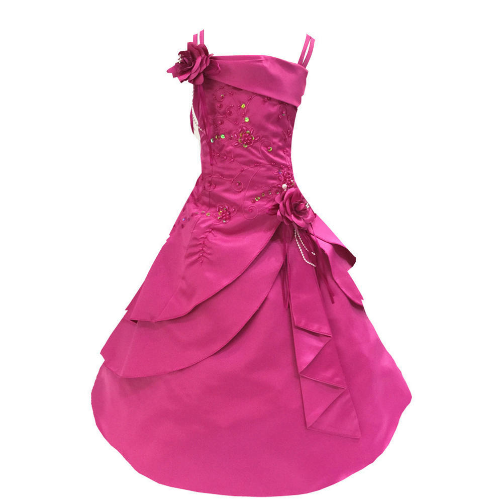 Alta costura trajes flor chica vestido princesa red hilo falda del ...