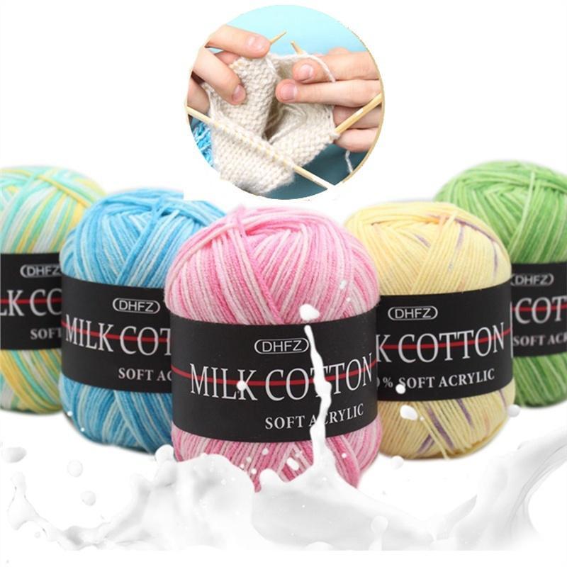 100g//ball Cotton Hand Knitting Yarn Chunky Woven Bulky Crochet Worested DIY