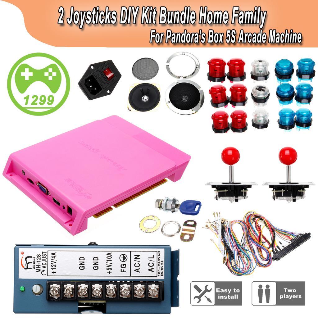 Pandora Box 5S 1299 Games Arcade Console Machine 2 Joysticks DIY Game Board  Kit Stick Controller Console Pandora's Box