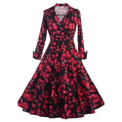 21ff9c46f ZAFUL mujeres Vintage 50s Hepburn vestido elegante - comprar a ...
