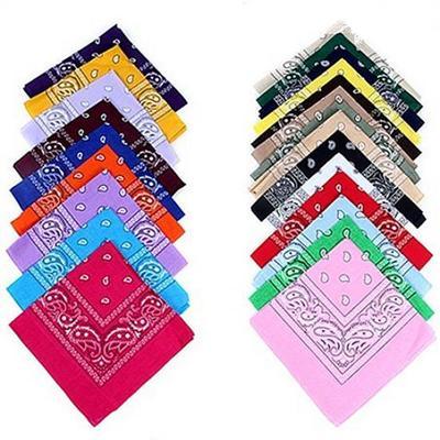 Cool Cotton Lady Men Square Bandana Hiphop Head Wrap Scarf Wristband 55 X 55cm