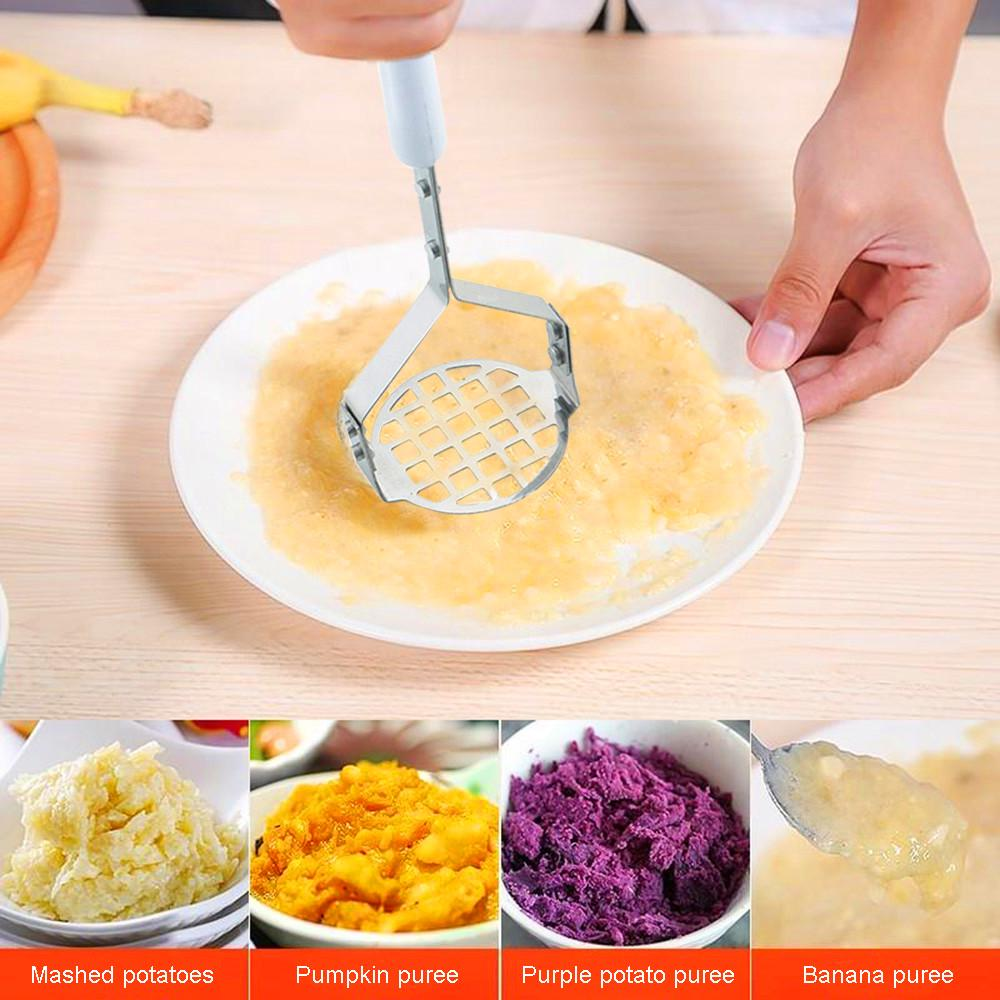 Potato Masher Stainless Steel Wave Shape Fruit Masher Kitchen Accessories for Convenient Smooth Mashed Potatoes Simple