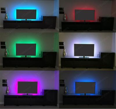 REMOTE CONTROL 100-500CM USB LED STRIP LIGHTS TV BACK LIGHT RGB COLOUR CHANGING