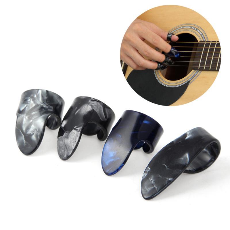 Banjo /& Ukulele, 4Pcs Edelstahl Gitarren Daumen und Finger Picks für Gitarre