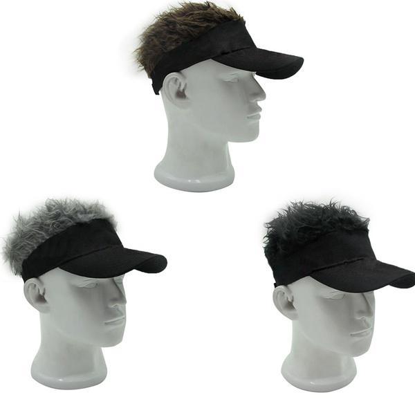 Funny Men Adjustable Flair Hair Visor Casquette Hat Golf Fashion Wig Cap-buy  at a low prices on Joom e-commerce platform 00de85790107