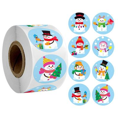 50-500pcs 2.5cm Christmas Cartoon Sticker Kids Christmas New Year Gift Packing Sealing Sticker Party Adhesive Lable