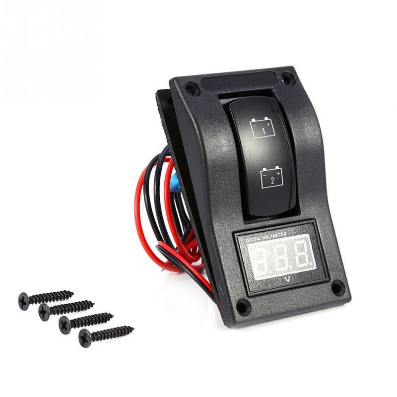 MagiDeal ABS Plastic DC 12V//24V 5Pin ABS Car RV Truck Bumper Light Bar Rocker Switch ON//OFF Blue LED