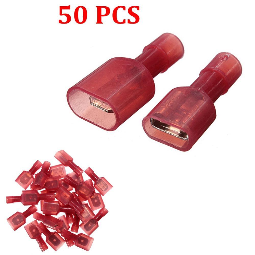 Bullet Butt Connectors 100 Pieces Female /& Male Bullet Butt Wire Crimp Connector Terminals Assortment Kit 22-16 AWG Assorted Assortment