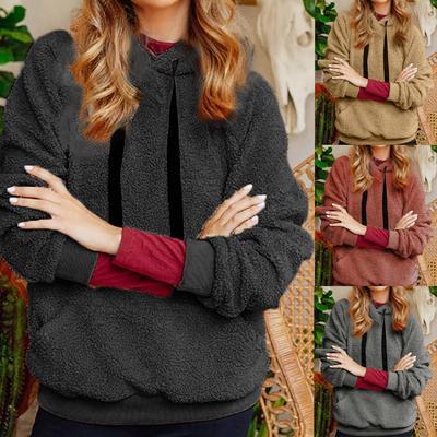 Warm Winter Coats for Women,Women Sweatshirt Coat Winter Warm Wool Fluffy Pure Color Cotton Coat Outwear